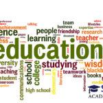 Education word cloud conceptual image